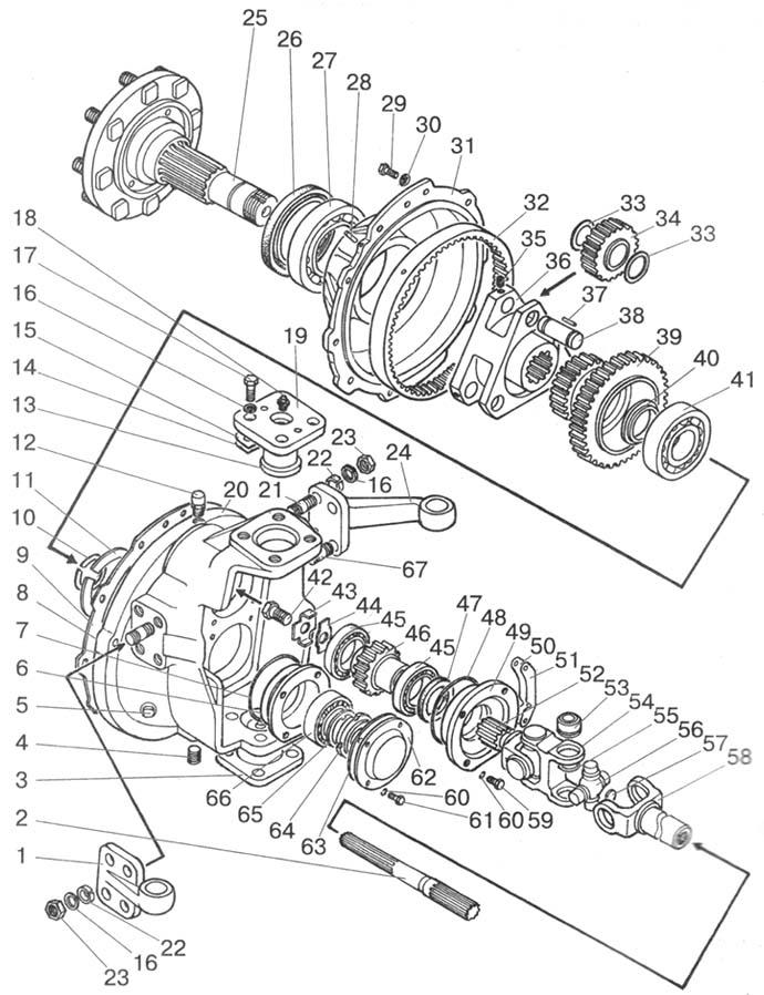 МТЗ 822230800502 Редуктор левый (МТЗ-1221,1221В,1222) (пр.